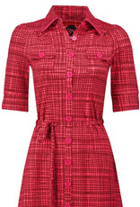 Tante Betsy Tante Betsy 1940s Betsy Hatch Red Pink Dress