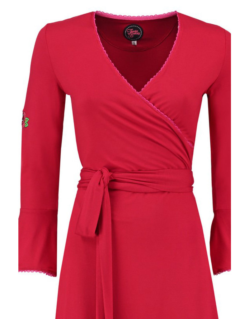 Tante Betsy Tante Betsy 1960s Ruffle Wrap Dress Red