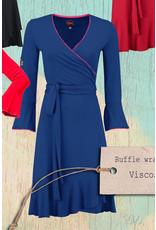 Tante Betsy Tante Betsy 1960s Ruffle Wrap Dress Blue