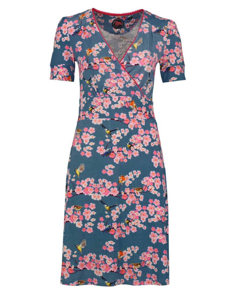 Tante Betsy Tante Betsy 1940s Auntie My Garden Dress Blue