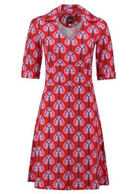 Tante Betsy Tante Betsy 1960s Mia Hearts Tree Red Dress