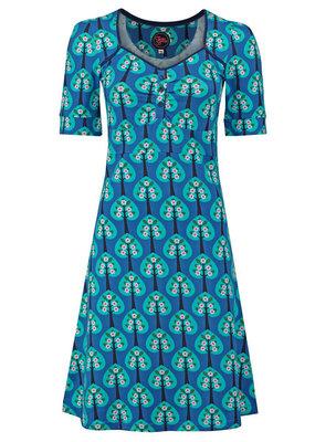 Tante Betsy Tante Betsy 1960s Lola Hearts Tree Blue Dress
