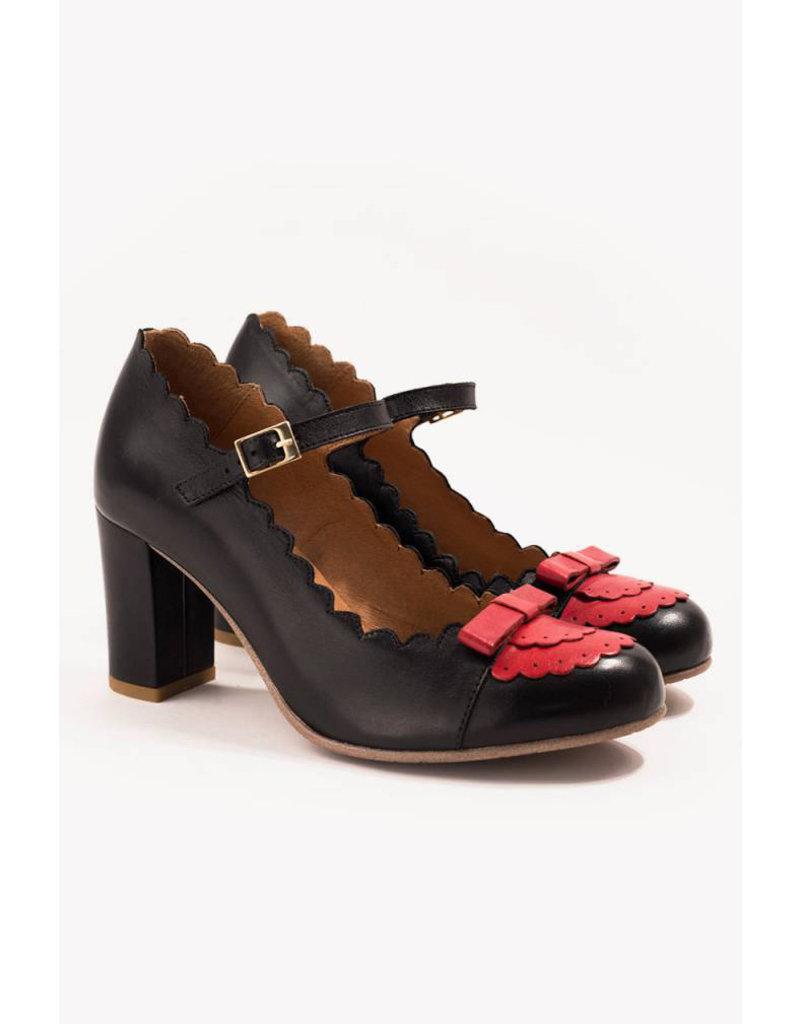 La Veintinueve La Veintinueve 50s Penelope Mary Jane Black Red