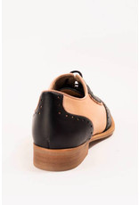 La Veintinueve La Veintinueve 1950s Simone Oxford Shoes Black and Rose