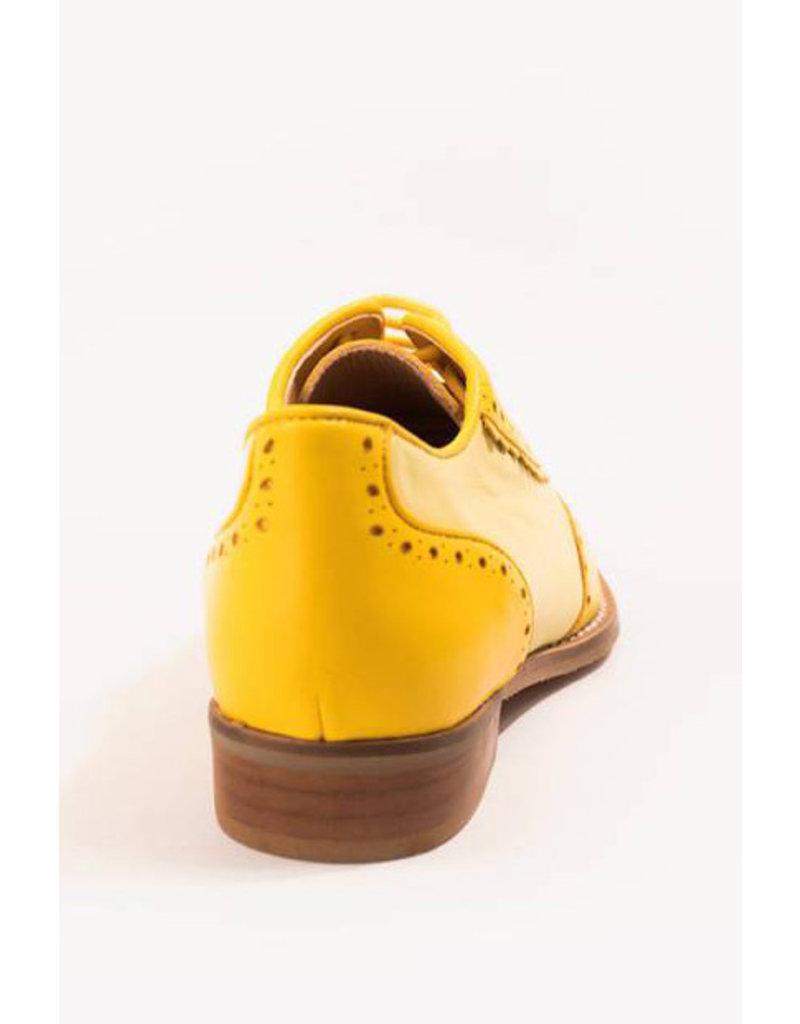 La Veintinueve La Veintinueve 1950s Simone Oxford Shoes Yellow