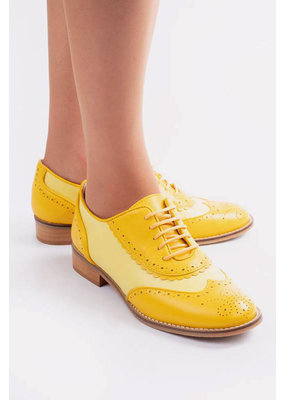 La Veintinueve La Veintinueve 1950s Simone Oxford Shoes Yellow