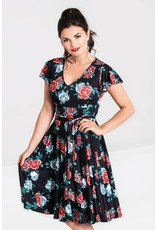 Hell Bunny PRE ORDER Hell Bunny 1950s Abigail Red Rose Swing Dress
