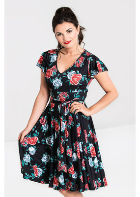 Hell Bunny Hell Bunny 1950s Abigail Red Rose Swing Dress