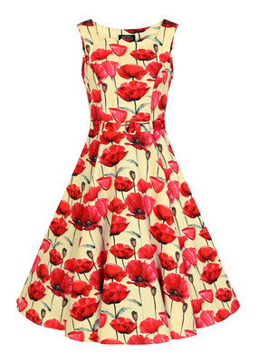 Hearts and Roses Hearts & Roses 1950s Sweet Poppy Swing Dress