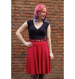 Lalamour Lalamour 1950s Pearly A Line Skirt Dark Red