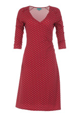 Lalamour Lalamour 1950s Pearly Wrap Dress Dark Red