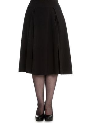 Hell Bunny Hell Bunny 1950s Kennedy Skirt Pleats Black