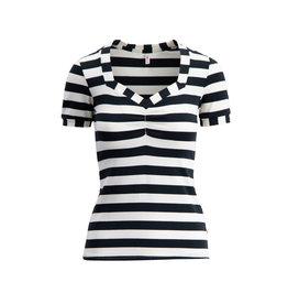 Blutsgeschwister Blutsgeschwister 1950s T-Shirt Block Stripe Black