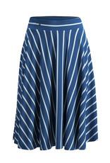 Blutsgeschwister Blutsgeschwister 1950s A Line Striped Skirt Blue