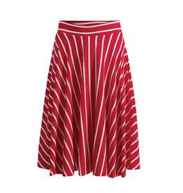 Blutsgeschwister Blutsgeschwister 1950s A Line Striped Skirt Red