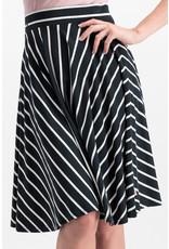 Blutsgeschwister Blutsgeschwister 1950s A Line Striped Skirt Black