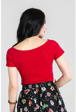 Hell Bunny PRE ORDER Hell Bunny 1950s Alex V-Neck Top Red