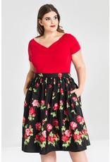 Hell Bunny Hell Bunny 1950s Antonia Roses Pleated Swing Skirt