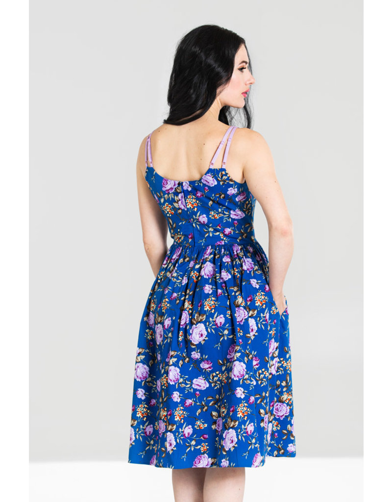 Hell Bunny Hell Bunny 1950s Violetta Floral Pleated Dress