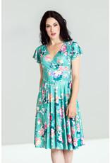 Hell Bunny Hell Bunny 1950s Oriental Floral Midori Swing Dress