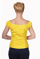 Banned Dancing Days 50s Vintage Gypsy Winnie Top Yellow