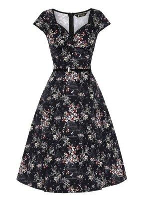 Lady V London Lady Vintage 1950s Isabella Birdsong Floral Dress