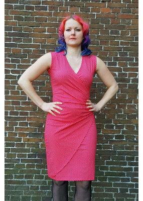 Lien & Giel Lien en Giel 40s Style Buenos Aires Dot Dress Red
