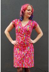 Lien & Giel Lien en Giel 40s Style Buenos Aires Wildflower Dress Red