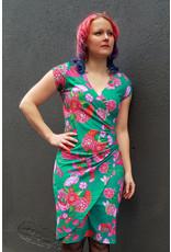 Lien & Giel Lien en Giel 40s Style Buenos Aires Birdy Dress Jade