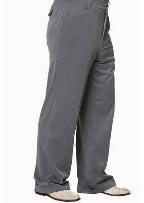 Banned Dancing Days 1940s Mens Swing Trousers Grey