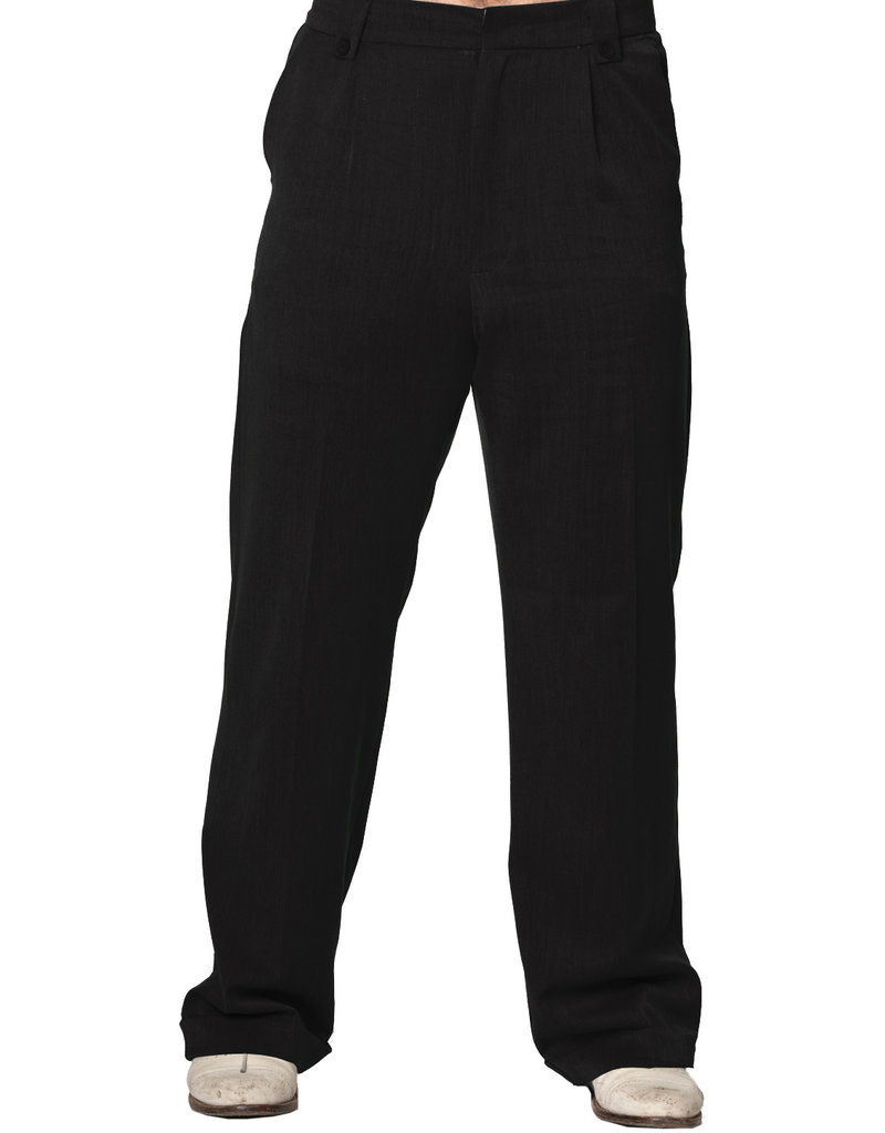 Banned Dancing Days 1940s Mens Swing Trousers Black