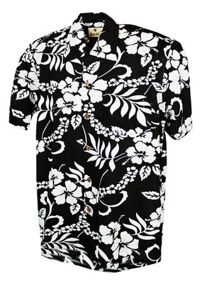 Banned Karmakula 1950s Hawaiian Waikiki Black Shirt