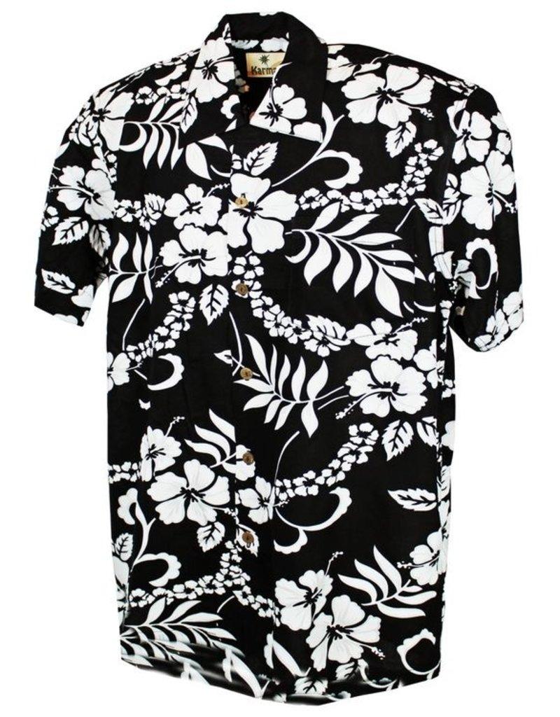 Banned Karmakula 1950s Hawaiian Waikiki Black Shirt