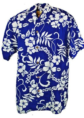 Banned Karmakula 1950s Hawaiian Waikiki Blue Shirt