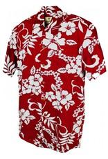 Banned Karmakula 1950s Hawaiian Waikiki Dark Red Shirt