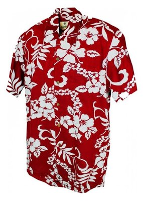Banned Karmakula 1950s Hawaiian Waikiki Dark Red Shirt