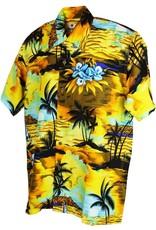 Karmakula Karmakula 1950s Tropical Sunset Yellow Shirt