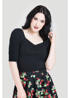 Hell Bunny SPECIAL ORDER Hell Bunny Philippa Top Black