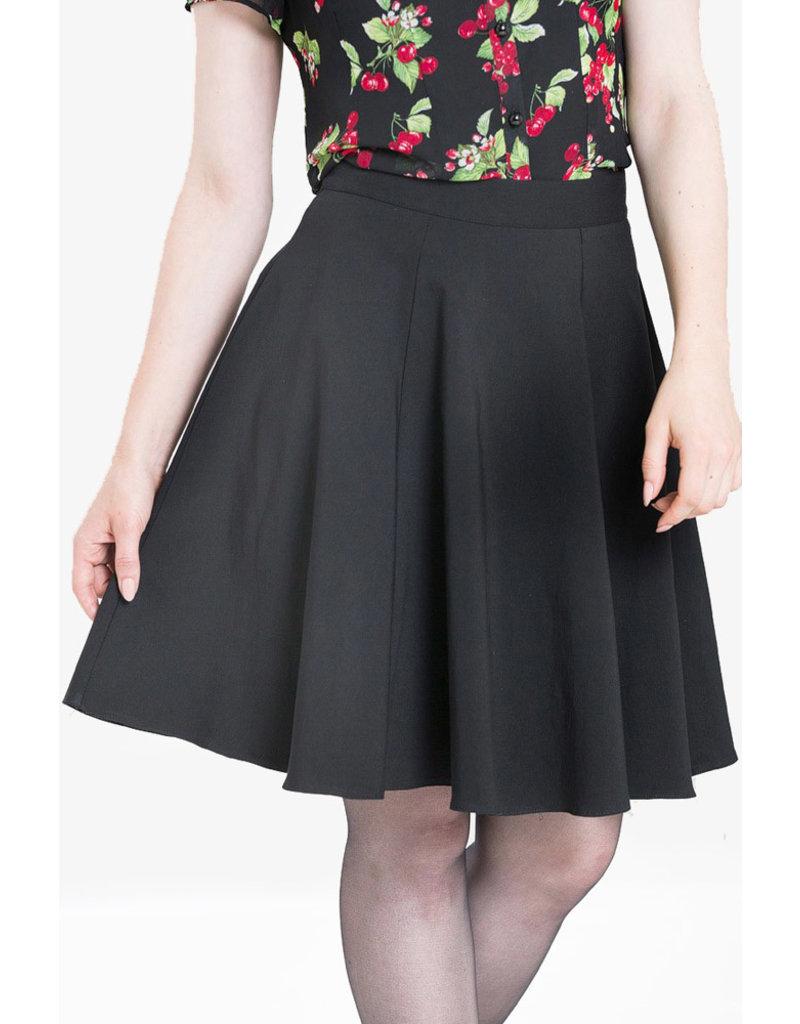Hell Bunny Hell Bunny 1950s Gabby Skater Skirt Black