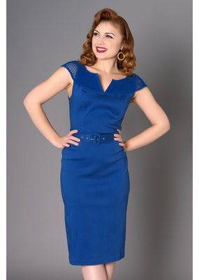 Sheen Sheen 1950s Yetta Pencil Dress Blue