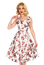 Hearts and Roses Hearts and Roses 1950s Aphrodite Metallic Roses Swing Dress
