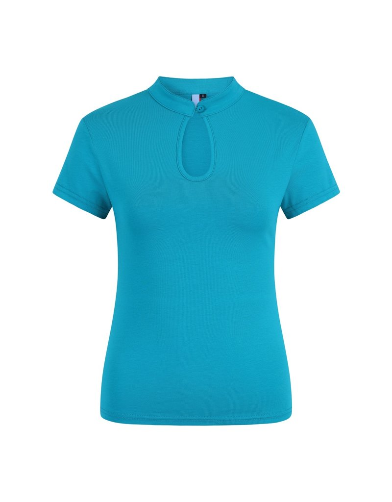 Banned Dancing Days Oriental Mandarin Top Turquoise