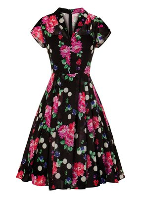 Hell Bunny Hell Bunny 1940s Bloomsbury Chiffon Dress