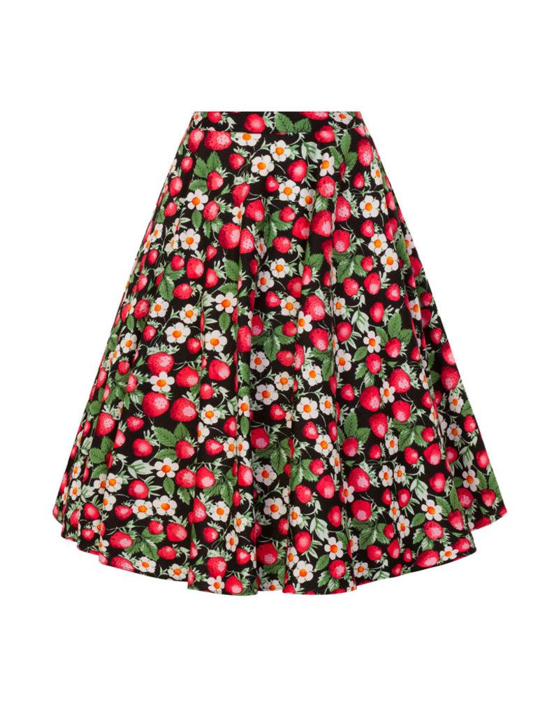 Hell Bunny Hell Bunny 1950s Strawberry Sundae Swing Skirt