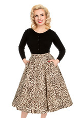 Hearts and Roses Hearts and Roses 1950s Zabrina Leopard Swing Skirt