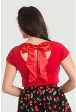 Hell Bunny PRE ORDER Hell Bunny Celine Bow Top Red