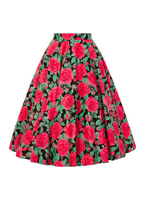 Hell Bunny Hell Bunny 1950s Darcy Roses Swing Skirt