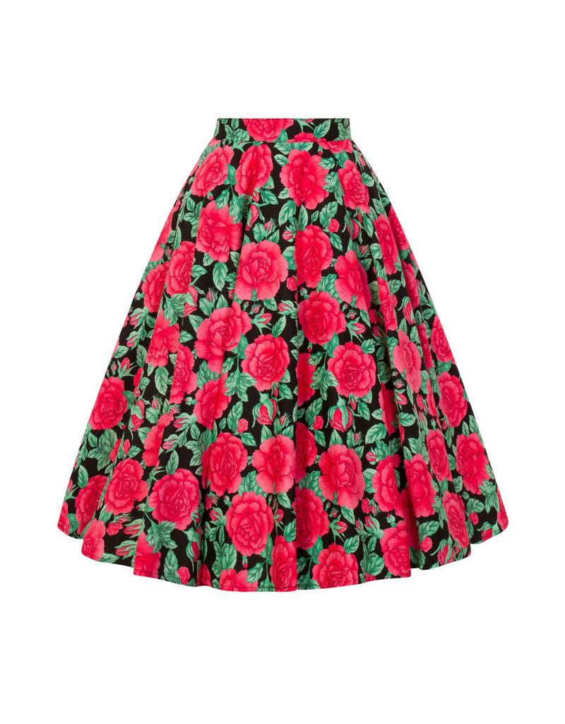Hell Bunny Hell Bunny 1950s Darcy Roses Swing Skirt