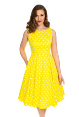 Hearts and Roses Hearts and Roses 1950s Cindy Polkadot Dress Yellow