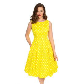Hearts and Roses Hearts and Roses 1950s Cindy Polkadot Dress Yellow